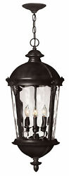 Hinkley Lighting Windsor 4-Light LED Outdoor Hanging Lantern