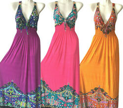 PLUS SIZE Women Long Maxi summer beach hawaiian Boho evening party sundress #7 $16.99
