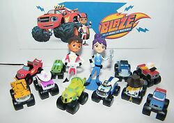 Blaze and the Monster Machines Figure Set of 13 with Blaze AJ Zeg and More $10.95