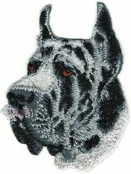3.25quot; Great Dane Dog Breed Portrait Embroidered Patch $2.99