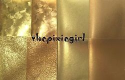 JAPANESE ORIGAMI PAPER Gold Momigami Textured Foil Washi 15cm $5.75