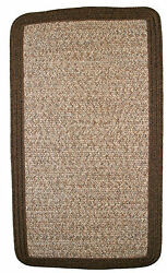 Thorndike Mills Town Crier Brown Heather with Brown Solids IndoorOutdoor Rug