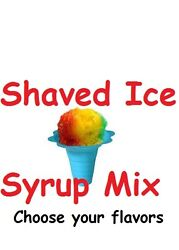 14 BOTTLES ** SHAVED ICE SNOW CONE SYRUP Mix CONCENTRATE FLAVOR SNO BALLS PINT $19.95