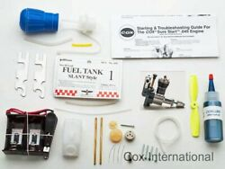 Cox 049 Radio Control Model Airplane RC Starter Field Kit .049 Engine Deluxe $119.95