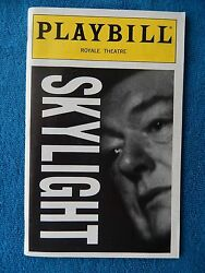 Skylight - Royale Theatre Playbill wTicket - October 2nd 1996 - Michael Gambon