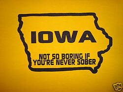 XL womens funny iowa beer party new hawkeyes state gift present college t shirt $19.00