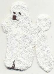 All White Standing Full Body Poodle Dog Breed Embroidered Patch $2.99