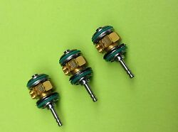 STAR DENTAL 430 TURBINE PUSH BUTTON CERAMIC LOT OF 3 quot;GOLD SERIESquot; LUBE FREE $197.95