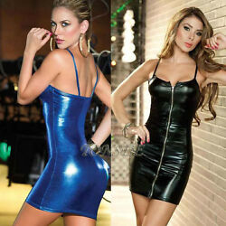2018Women Sexy Hot lingerie Clubwear Stripper Patent Leather Underwear Jumpsuits