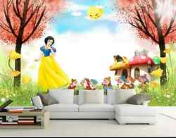 3D Snow White Maple Tree Sky Wall Paper Wall Print Decal Wall Deco AJ WALLPAPER