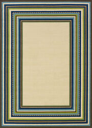 9x13 Sphinx Patio Stripes Casual Ivory 1003X Outdoor Area Rug - Approx 8'6