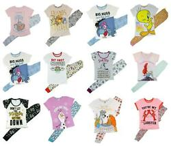 Ladies Pyjamas Set Long Styles Size 8 22 Great Characters 100% Cotton GBP 12.00