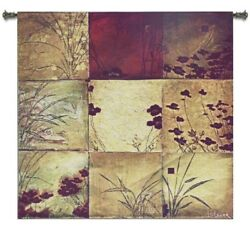 CONTEMPORARY RUSTIC STAR LIGHT FLORAL ABSTRACT ART TAPESTRY WALL HANGING 31x31 $108.00