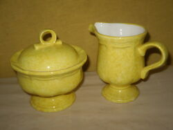 CORN SILK MIKASA COUNTRY CHARM COLLECTION CREAMER & SUGAR BOWL CONTAINERS-JAPAN