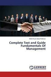 Complete Text and Guide Fundamentals of Management by Abdul Rahman Mohd Razali  $101.75