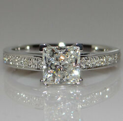 White Sapphire Birthstone 925 Silver Filled Wedding Bridal Ring Gift  Size 5-12