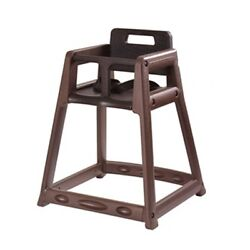 850C-BRN Plastic High ChairCasters BrownBlack