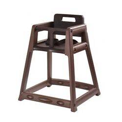 850DGY Plastic High Chair Assembled Gry