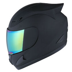 NEW 1STORM DOT MOTORCYCLE STREET BIKE FULL FACE HELMET MECHANIC SKULL MATT BLACK $54.95