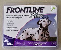 Frontline Plus For Dogs 3 Doses For Dogs 45 to 88 lb Free Shipping $22.79