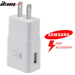 Samsung Galaxy Note 4 S6 S7 Edge OE Adaptive Fast Rapid Charger Home Wall Plug $3.99
