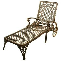 Oakland Living 2108-AB Mississippi Chaise Lounge Antique Bronze