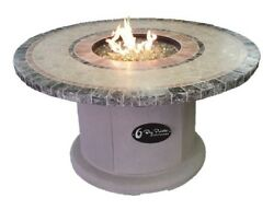 BayPointe Outdoors Designer Series Mosaic Fire Pit Table