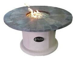 BayPointe Outdoors Designer Series Slate Fire Pit Table