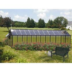 Riverstone Industries Monticello 8 x 24 Ft. Greenhouse Black Mojave
