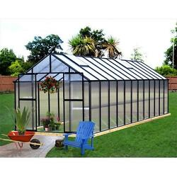 Riverstone Industries Monticello 8 x 24 Ft. Greenhouse Black Finish