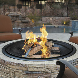 Sun Joe Cast Stone Wood Burning Fire Pit