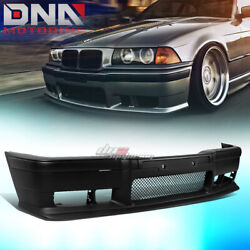 FOR 92 98 BMW E36 3SERIES 1PC M3 STYLE ABS FRONT BUMPER COVER BODY KITGRILLE