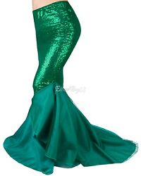 US Womens Sequined Fancy Party Costume Mermaid Tail Skirt Long Maxi Dress XMAS $16.69