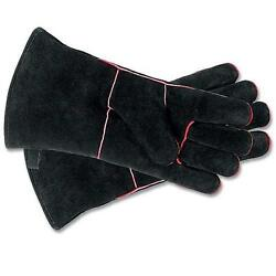 Woodeze 5MM-A-12B Fireplace Gloves 13 1 2 in. Black