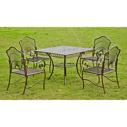 Patio Furniture Sets Clearance 5 Piece Outdoor Dining Lawn Iron Yard Metal Table