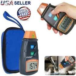 Digital Tachometer Non Contact Laser Photo RPM Tach Meter Motor Speed Gauge New $10.29