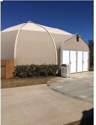 Sprung structure fabric building tent