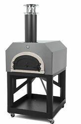 Chicago Brick Oven Mobile Wood Burning Pizza Oven Silver