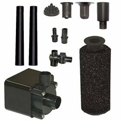 Beckett Corporation Pond Pump Kit W Prefilter And Nozzles 600 Gph Patio Garden