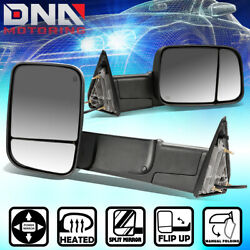 FOR 2009-2016 RAM TRUCK 1500 2500 3500 PAIR POWER+HEATED REAR VIEW TOWING MIRROR