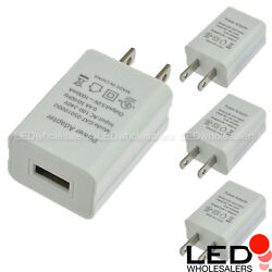 5V 1A 5W ACDC Power Adapter USB Charger in White Finish (4-Pack) UL-Listed $13.90