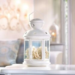 White Colonial Tealight Votive Candle Holder Light Lamp Tabletop Hanging Decor