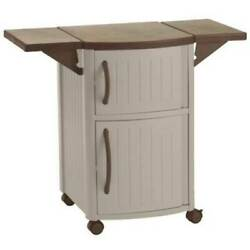 Suncast DCP2000 Portable Outdoor Patio Prep Serving Station Table and Cabinet $164.99