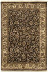 Surya Hand Knotted Wool Brown Traditional 8x11 Area Rug - Approx 8' x 11