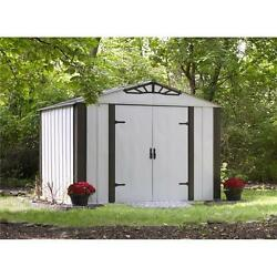 Designer Series 10' x 8' Hot Dipped Galvanized Steel Shed Sand & Java