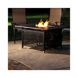 Darby Home Co Gibbons Aluminum Gas Fire Pit Table