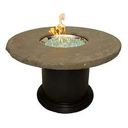 OutdoorGreatroom CM-48-DIN-K Colonial Dining Height Fire Pit Table