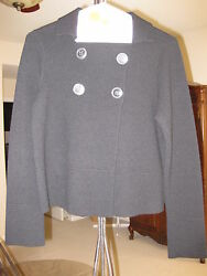 JCREW PRE-OWNED CATHERINE CASHMERE PEACOAT SWEATER CARDIGAN BLACK SIZE S
