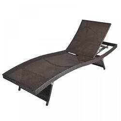 New BR2 Outdoor Patio Furniture PE Wicker Adjustable Pool Chaise Lounge Chair