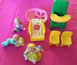 Cabbage Patch Dolls Pvc Figurines Vintage Lot 1984 And Furniture